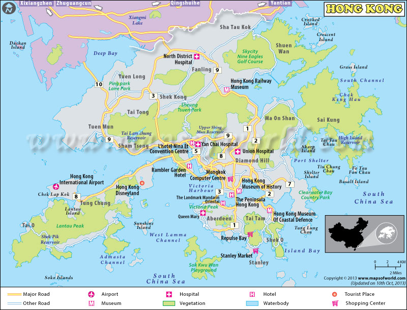 Getting around in hong kong hong kong harbour map the greater area map gumiabroncs Choice Image